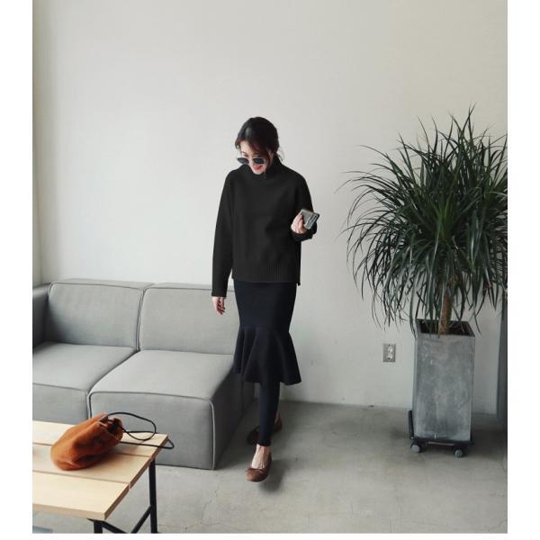 ニット レディース トップス おしゃれ 可愛い ブラック ホワイト  【lw-dpz1207】【即納:2-5日】宅別 lagemme 03