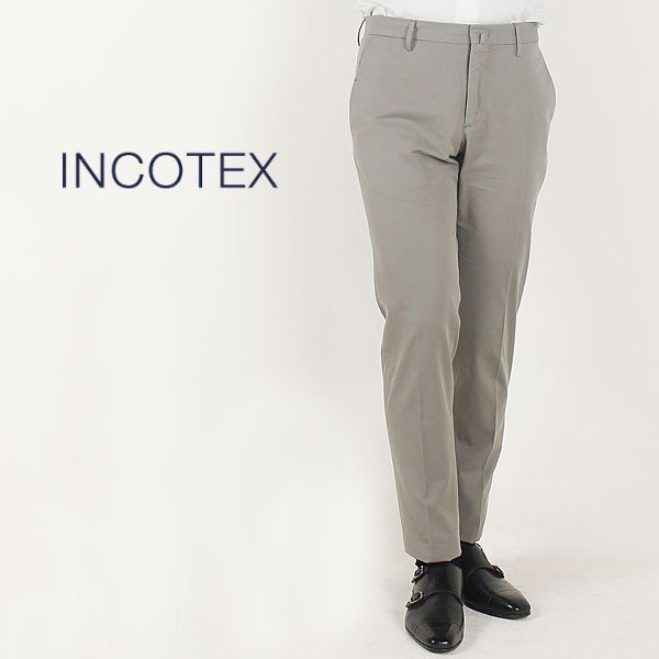 INCOTEX インコテックス メンズ コットン ブリッジフィット トラウザーズ BRIDGE FIT 1GWT46 6094H 900 (グレージュ)special priceAM|laglagmarket