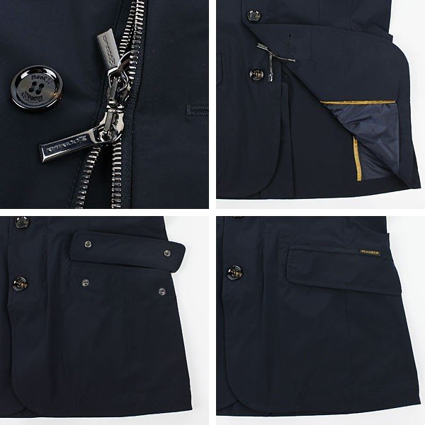 セール 国内正規品 MOORER ムーレー メンズ ストレッチ ナイロンジャケット DEZ EX BLU (ネイビー)special priceAM|laglagmarket|04