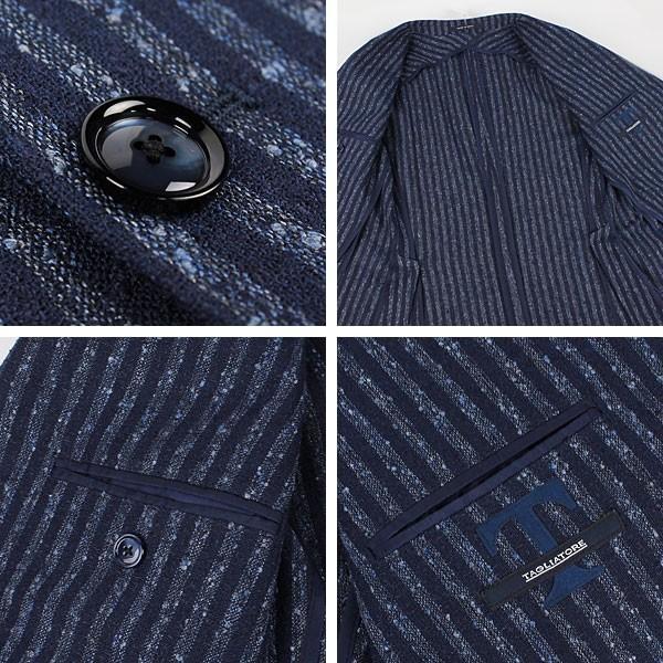 セール 国内正規品 TAGLIATORE タリアトーレ メンズ  リネン ネップ混 ストライプ シングルジャケット 1SMC22K 85REG018 (ネイビー)special priceAM|laglagmarket|04