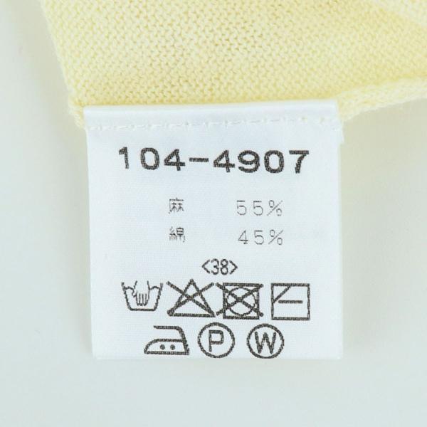 2019年新作 国内正規品 Crespi クレスピ レディース リネンコットン 半袖カーディガン 104-4907(オフホワイト)|laglagmarket|08