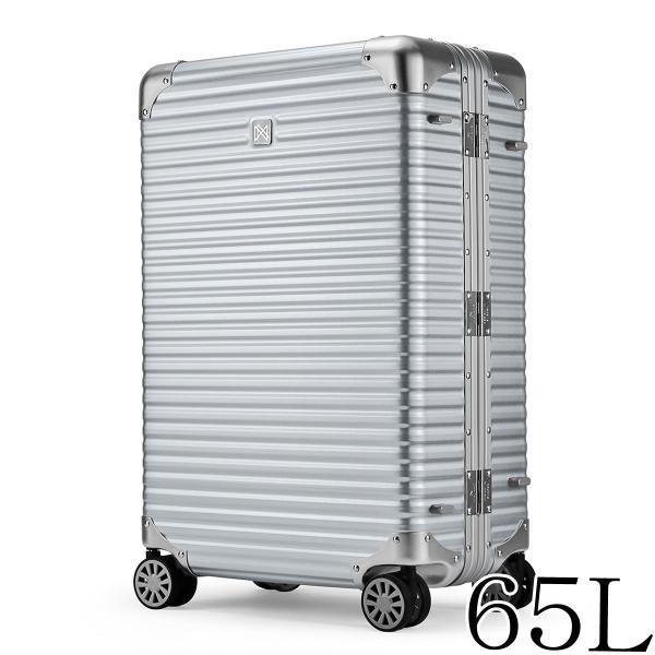 ランツォ LANZZO NORMAN ノーマン 4輪 65L 約6.3kg ダイアルロック式 アルミ スーツケース Al-Mg27 162701 SILVER(シルバー)返品交換不可