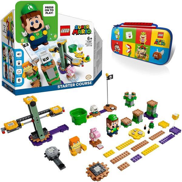 メーカー特典 レゴ(LEGO)スーパーマリオレゴルイージとぼうけんのはじまり〜スターターセット71387+キャリングケース付き