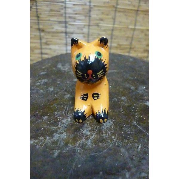 ミニミニねこ 木彫りネコ 小さい猫 ねこ雑貨 猫グッズ|lakshmi2011