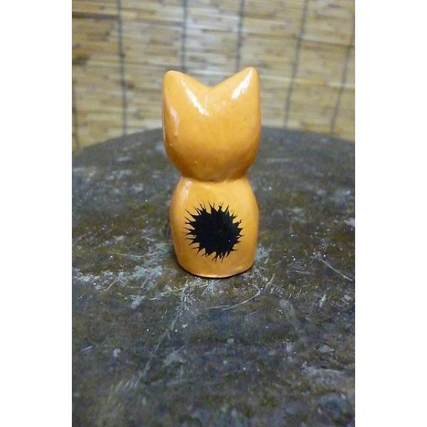ミニミニねこ 木彫りネコ 小さい猫 ねこ雑貨 猫グッズ|lakshmi2011|03