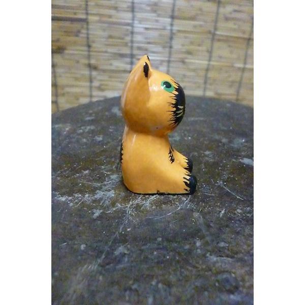 ミニミニねこ 木彫りネコ 小さい猫 ねこ雑貨 猫グッズ|lakshmi2011|04