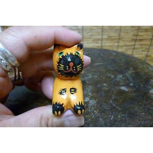 ミニミニねこ 木彫りネコ 小さい猫 ねこ雑貨 猫グッズ|lakshmi2011|05
