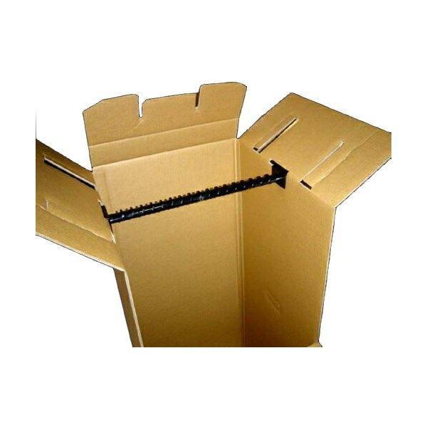 引越し資材 衣類収納型ダンボール シングルハンガーボックス バー付【法人・店舗割引あり】