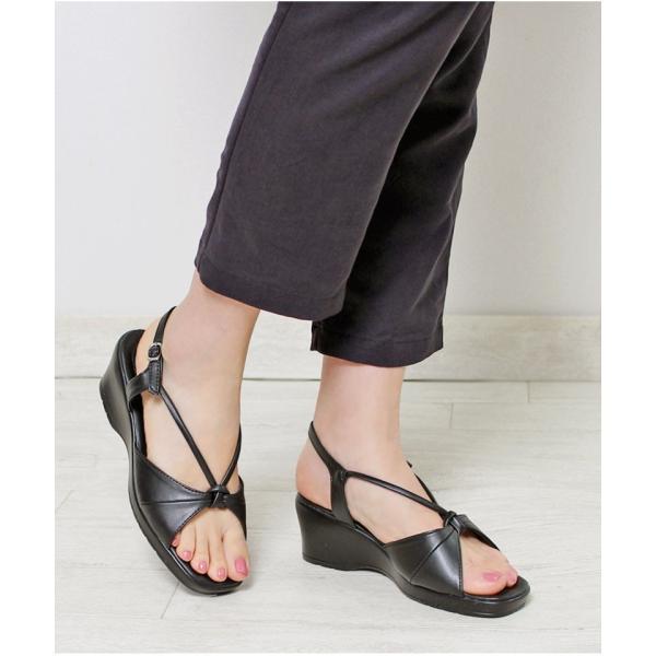 【即納】4タイプ ナース オフィスサンダル ナースサンダル 【ALETTA】 ウェッジソール 6cmヒール スーツ 職場 外反 甲高 幅広 痛くなりにくい 立ち仕事 靴|laluna-shoes|09
