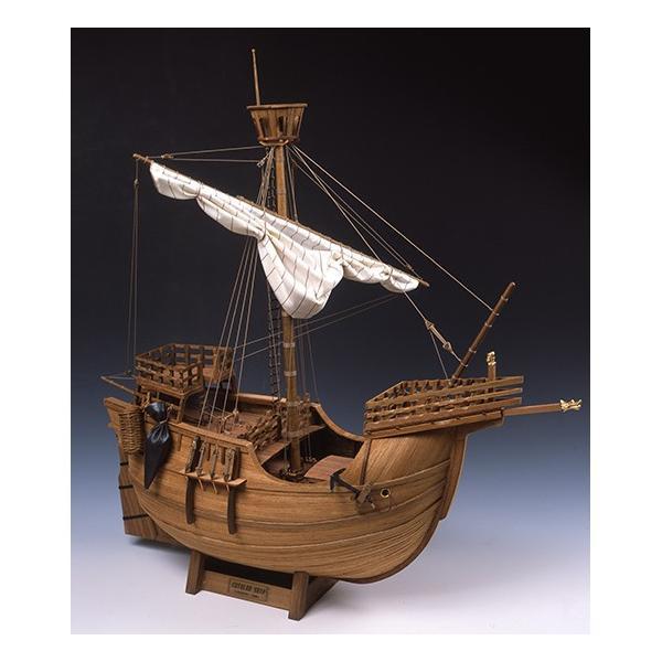 「在庫限り」ウッディジョー 木製帆船模型 1/30 カタロニア船 レーザーカット加工