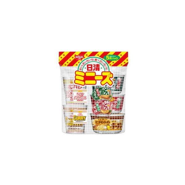 4箱まで1個口 日清 ミニーズ 東 ミニカップ 5食パック×6袋 [ケース販売] [送料無料対象外]