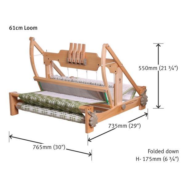アシュフォード テーブルルーム60cm4枚そうこう ラッカー塗装 組立キット <卓上 手織り機 ashford>|lamerr|02