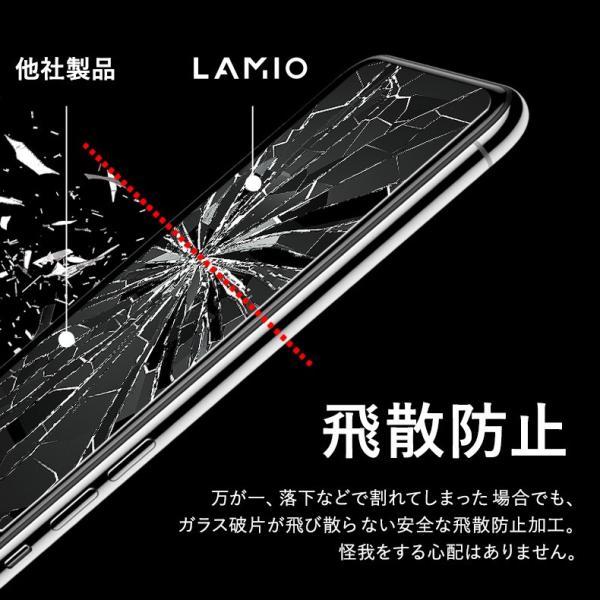 【2枚セット】iPhone 保護フィルム ガラスフィルム iPhoneXR iPhoneXS Max iPhoneX iPhoneXS 硬度9H 強化ガラス 液晶保護 lamio 11