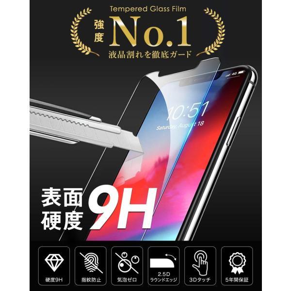 【2枚セット】iPhone 保護フィルム ガラスフィルム iPhoneXR iPhoneXS Max iPhoneX iPhoneXS 硬度9H 強化ガラス 液晶保護 lamio 04