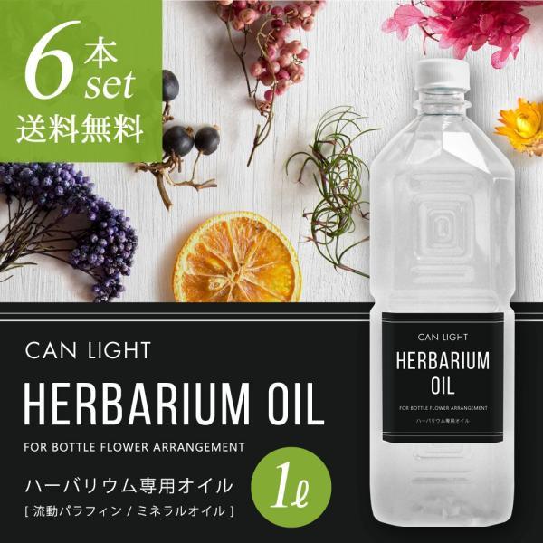 【新発売】ハーバリウム専用オイル 1L 6本セット(注入キャップ付)【26%OFF】