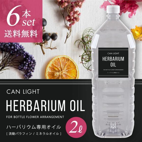 【新発売】ハーバリウム専用オイル 2L 6本セット(注入キャップ付)【26%OFF】
