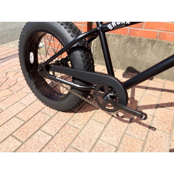 ファットバイク 20インチ 極太タイヤ おしゃれ 自転車 通勤 通学 ブロンクスファットバイク 20BRONX マットブラック×ブラックリム|lanai-makai|11