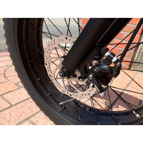 ファットバイク 20インチ 極太タイヤ おしゃれ 自転車 通勤 通学 ブロンクスファットバイク 20BRONX マットブラック×ブラックリム|lanai-makai|13