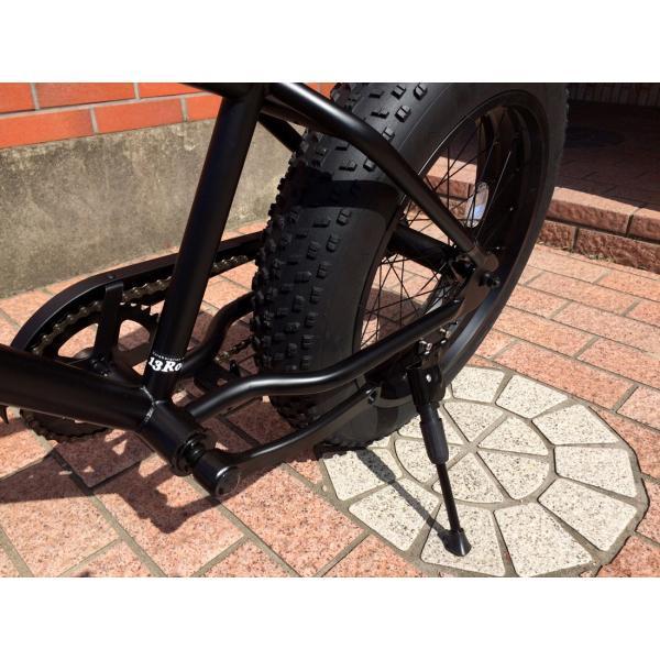 ファットバイク 20インチ 極太タイヤ おしゃれ 自転車 通勤 通学 ブロンクスファットバイク 20BRONX マットブラック×ブラックリム|lanai-makai|14