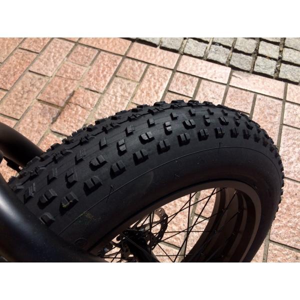 ファットバイク 20インチ 極太タイヤ おしゃれ 自転車 通勤 通学 ブロンクスファットバイク 20BRONX マットブラック×ブラックリム|lanai-makai|15