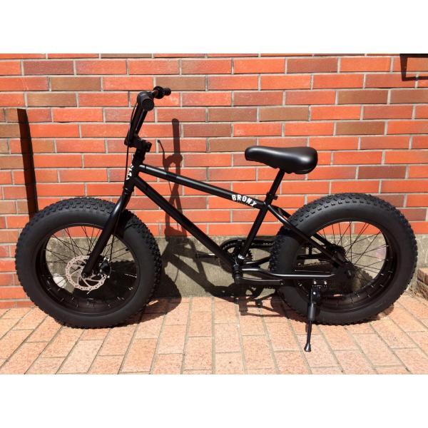 ファットバイク 20インチ 極太タイヤ おしゃれ 自転車 通勤 通学 ブロンクスファットバイク 20BRONX マットブラック×ブラックリム|lanai-makai|05