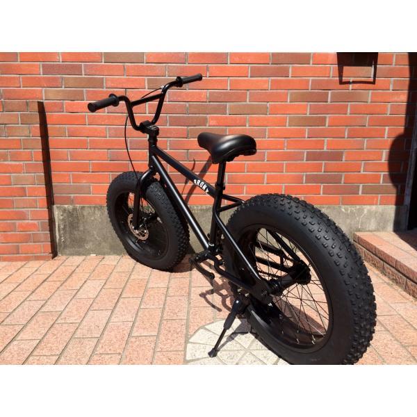 ファットバイク 20インチ 極太タイヤ おしゃれ 自転車 通勤 通学 ブロンクスファットバイク 20BRONX マットブラック×ブラックリム|lanai-makai|06