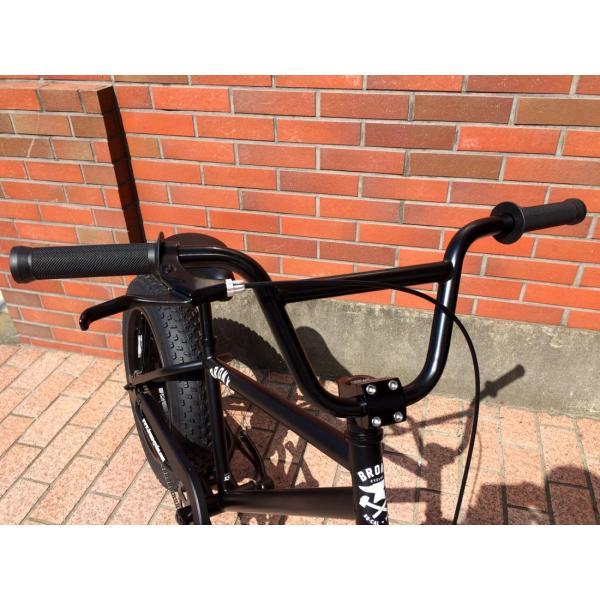 ファットバイク 20インチ 極太タイヤ おしゃれ 自転車 通勤 通学 ブロンクスファットバイク 20BRONX マットブラック×ブラックリム|lanai-makai|09