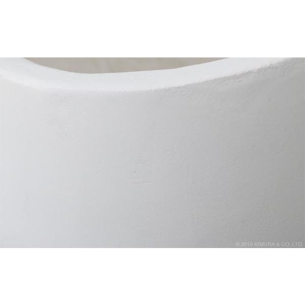 プランター 植木鉢 大型 コンクリート セメント ホワイト 白 おしゃれ 鉢 寄せ植え ガーデニング 12号 北欧家具 ZAGO シンプル モダン L4V01LW landmark 05
