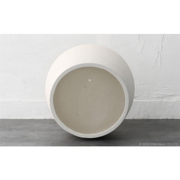 プランター 植木鉢 大型 コンクリート セメント ホワイト 白 おしゃれ 鉢 寄せ植え ガーデニング 12号 北欧家具 ZAGO シンプル モダン L4V01LW landmark 06