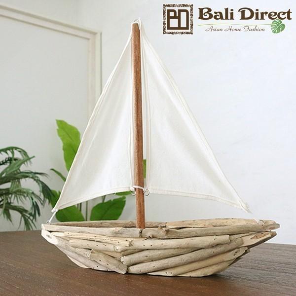 アジアン雑貨 ボート 木製オブジェ Z070832G