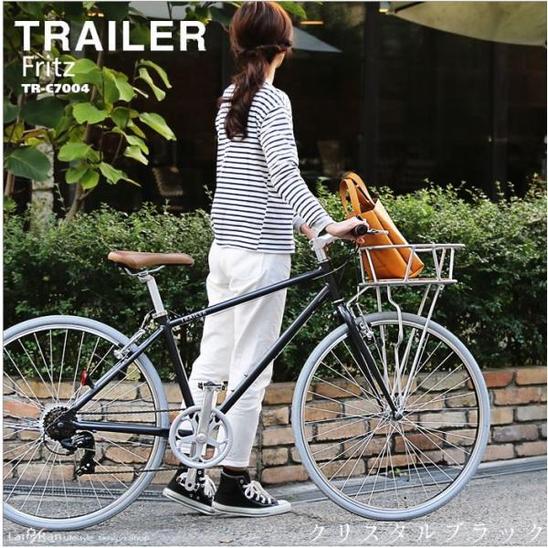 クロスバイク 自転車 700C アルミフレーム シマノ6段変速 おしゃれな 前カゴ付 サドル 通勤 通学|lanran|02