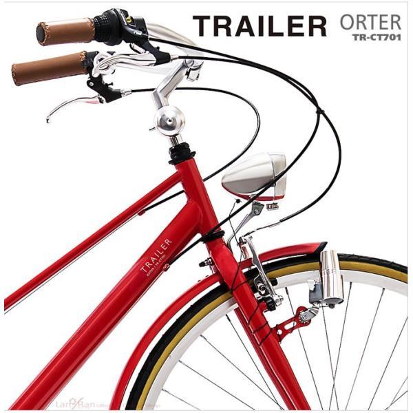 シティサイクル 700C 自転車 シマノ6段変速 おしゃれ シティバイク TRAILER トレイラー ワイドハンドル|lanran|05