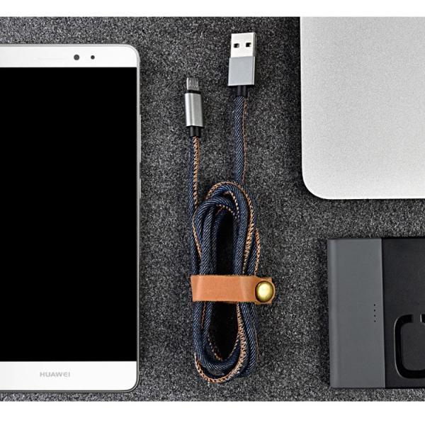 充電器 ケーブル 急速充電 ポイント消化 iPhone Type-C MicroUSB Android 丈夫 保護 デニム かっこいい 1.2m 1.8m|lanui|08