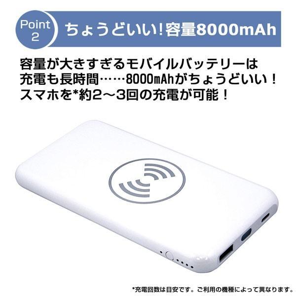 モバイルバッテリー 大容量 薄型 急速充電 ワイヤレス Qi充電 iPhone android PSE 保証 lanui 03