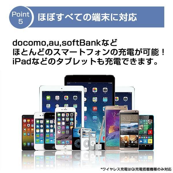 モバイルバッテリー 大容量 薄型 急速充電 ワイヤレス Qi充電 iPhone android PSE 保証 lanui 06