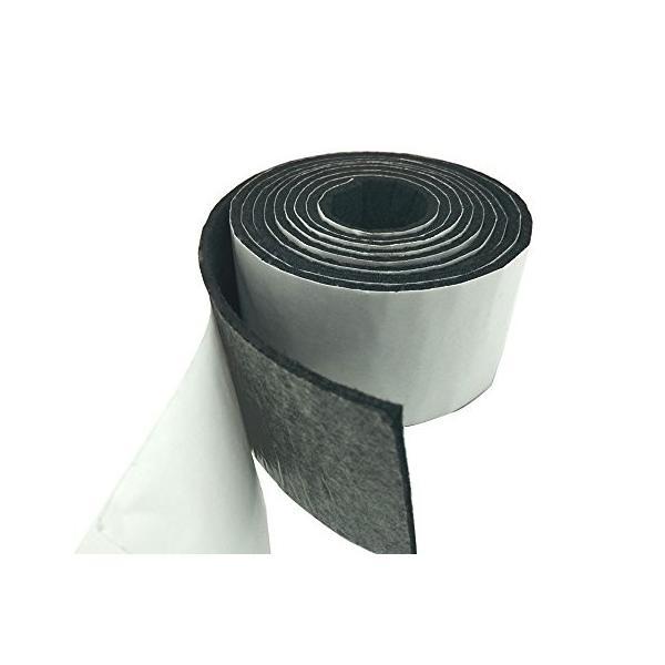 Tetedeer 床のキズ防止テープ 自由にカットして使用可 幅5cm 長200cm (ブラック)