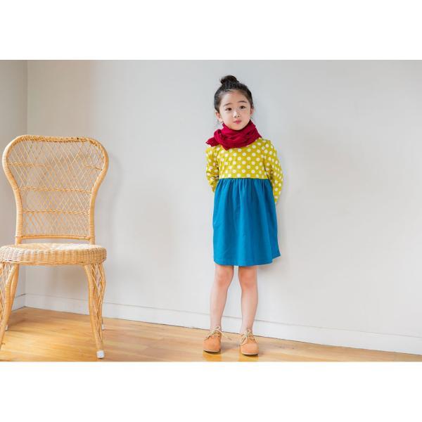 韓国子供服 女の子 通販 ワンピース 長袖 Aライン ボーダー バイカラー おしゃれ キッズ 可愛い 子ども服 お出かけ 30代 ママ 春 夏 ファッション|lany-days|12