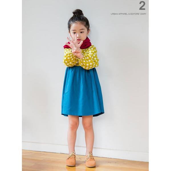 韓国子供服 女の子 通販 ワンピース 長袖 Aライン ボーダー バイカラー おしゃれ キッズ 可愛い 子ども服 お出かけ 30代 ママ 春 夏 ファッション|lany-days|10