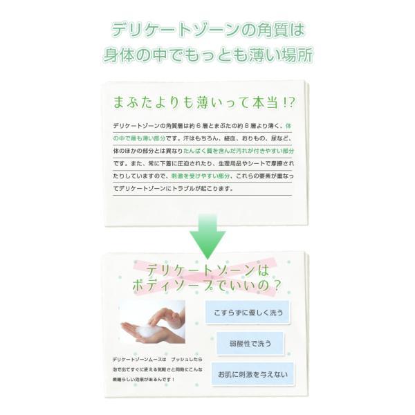 デリケートゾーン 石鹸 洗浄 ムース PH4.5 弱酸性 優しい洗浄ムース 大容量3ヶ月ボトル|lapia|04