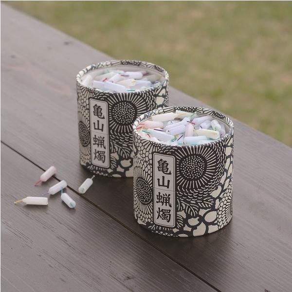 亀山五色蝋燭 風呂敷付き 10分燃焼の安心設計 約300本入り 贈答用にも|lapis1021