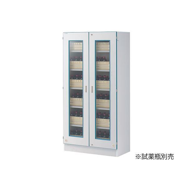 【直送・代引き不可】 安全薬品保管棚 薬品トレー15個付属 AS-15RN 3-040-21