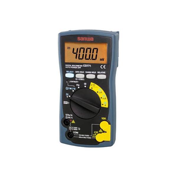 三和電気計器 SANWA デジタルマルチメータ バックライト搭載 CD771