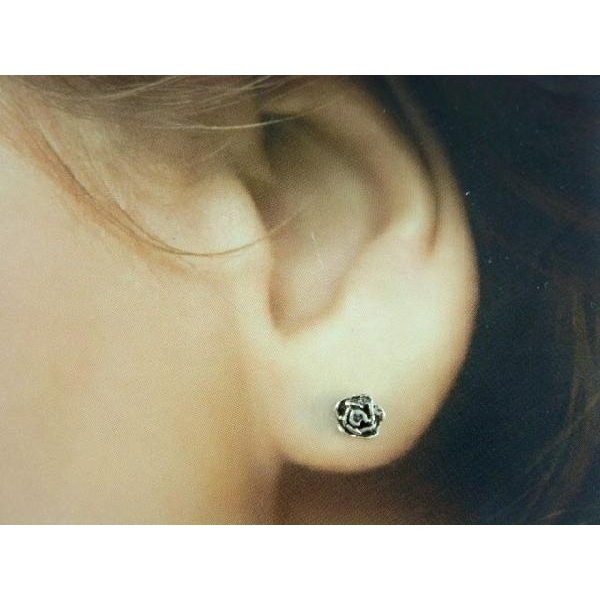 シルバーピアス レディース 小さい 薔薇 バラ ピアス (直径5mmタイプ)|laplateriashu|02