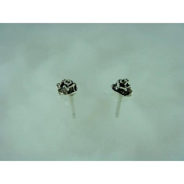 シルバーピアス レディース 小さい 薔薇 バラ ピアス (直径5mmタイプ)|laplateriashu|04