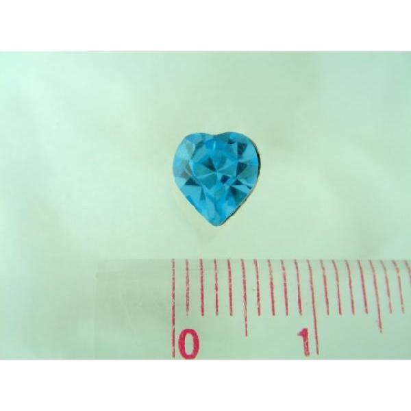 シルバーピアス レディース 直径6×6mm でかハートのスワロフスキー 〜ライトブルー・水色 laplateriashu 05