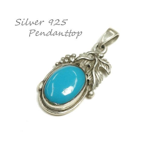 シルバー925 大粒の石がまるでフルーツのような青い石付きペンダントトップ  silver925 シルバーアクセサリー シルバー製 ペンダントヘッド メンズ|laplateriashu