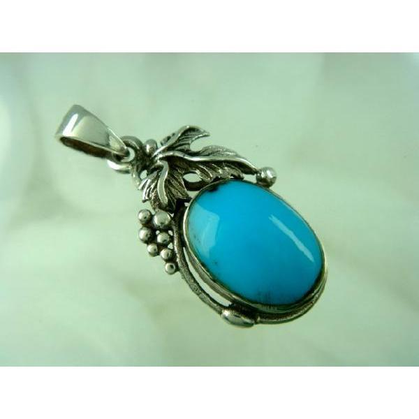 シルバー925 大粒の石がまるでフルーツのような青い石付きペンダントトップ  silver925 シルバーアクセサリー シルバー製 ペンダントヘッド メンズ|laplateriashu|02