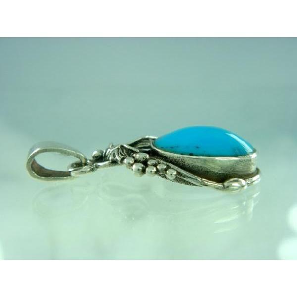 シルバー925 大粒の石がまるでフルーツのような青い石付きペンダントトップ  silver925 シルバーアクセサリー シルバー製 ペンダントヘッド メンズ|laplateriashu|03