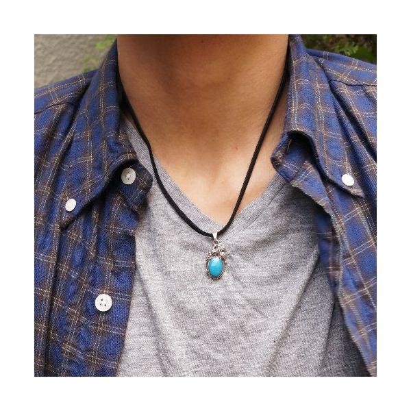 シルバー925 大粒の石がまるでフルーツのような青い石付きペンダントトップ  silver925 シルバーアクセサリー シルバー製 ペンダントヘッド メンズ|laplateriashu|06