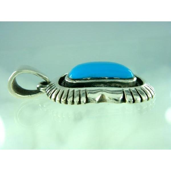 シルバー925 いびつな形がかわいらしい青い石付きペンダントトップ  silver925 シルバーアクセサリー シルバー製 ペンダントヘッド メンズ|laplateriashu|03
